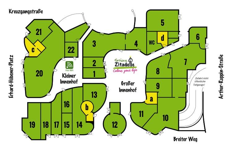 Lageplan Hundertwasserhaus